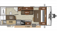 2019 Jay Flight SLX 224BH Floor Plan