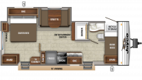 2019 Jay Flight SLX 244BHS Floor Plan