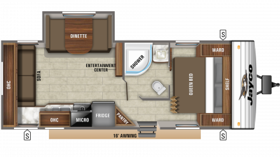 2019 Jay Flight SLX 245RLS Floor Plan Img