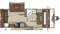 2019 Jay Flight SLX 245RLS Floor Plan