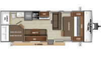 2019 Jay Flight SLX 264BH Floor Plan