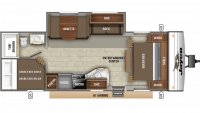 2019 Jay Flight SLX 267BHS Floor Plan