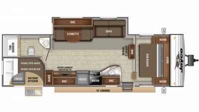 2019 Jay Flight SLX 284BHS Floor Plan Img