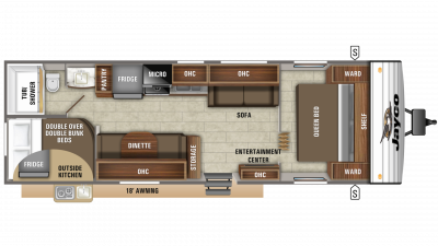 2019 Jay Flight SLX 298BH Floor Plan Img