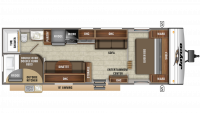 2019 Jay Flight SLX 298BH Floor Plan