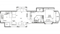 2019 Mobile Suites 41RKSB4 Floor Plan