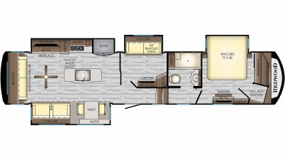 2019 Redwood 388MD Floor Plan Img