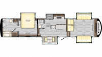 2019 Redwood 3951MB Floor Plan