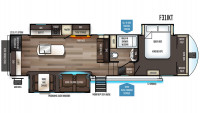 2019 Sabre 31IKT Floor Plan