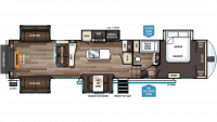 2019 Sabre 38RDP Floor Plan