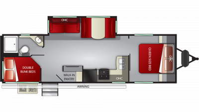 2019 Shadow Cruiser 277BHS Floor Plan Img