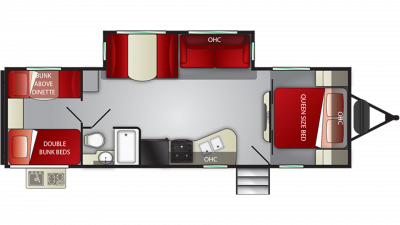 2019 Shadow Cruiser 280QBS Floor Plan Img