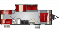 2019 Shadow Cruiser 280QBS Floor Plan