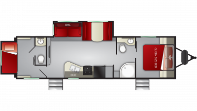 2019 Shadow Cruiser 289RBS Floor Plan Img