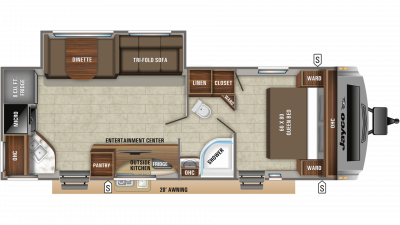 2019 White Hawk 26RK Floor Plan Img