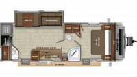 2019 White Hawk 26RK Floor Plan