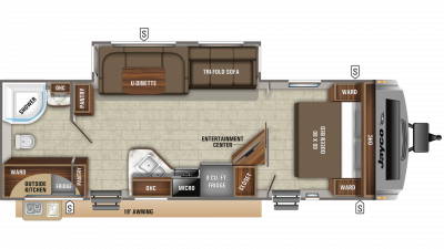 2019 White Hawk 27RB Floor Plan Img