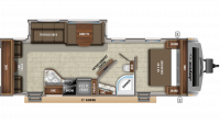 2019 White Hawk 28RL Floor Plan