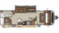 2019 White Hawk 29BH Floor Plan