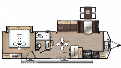 2020 Catalina Destination 33FKDS Floor Plan Img