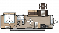 2020 Catalina Destination 33FKDS Floor Plan