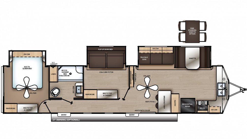 2020 Catalina Destination 39FKTS Floor Plan Img