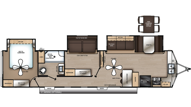2020 Catalina Destination 39FKTS Floor Plan