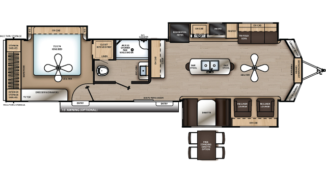 2020 Catalina Destination 39MKTS Floor Plan