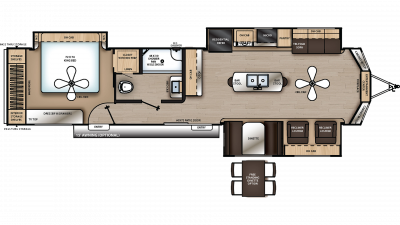2020 Catalina Destination 39MKTS Floor Plan Img