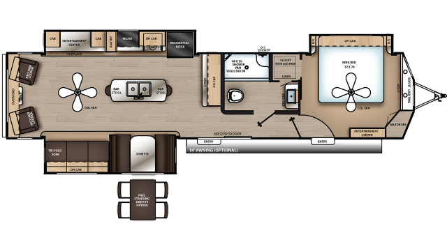2020 Catalina Destination 39RLTS Floor Plan