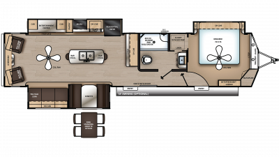 2020 Catalina Destination 39RLTS Floor Plan Img