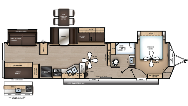 2020 Catalina Destination 40BHTS Floor Plan