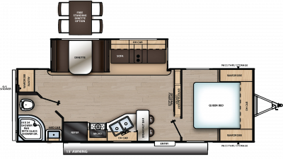 2020 Catalina Legacy Edition 243RBS Floor Plan Img
