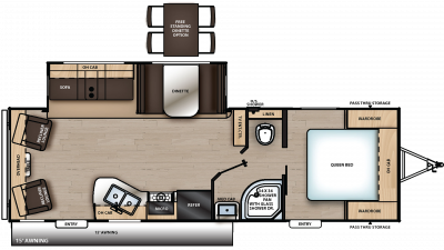 2020 Catalina Legacy Edition 263RLS Floor Plan Img