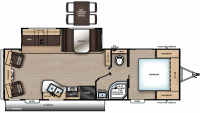 2020 Catalina Legacy Edition 263RLS Floor Plan