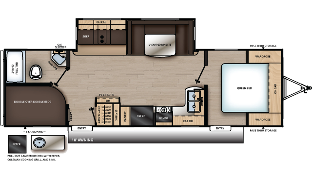 2020 Catalina Legacy Edition 273BHSCK Floor Plan