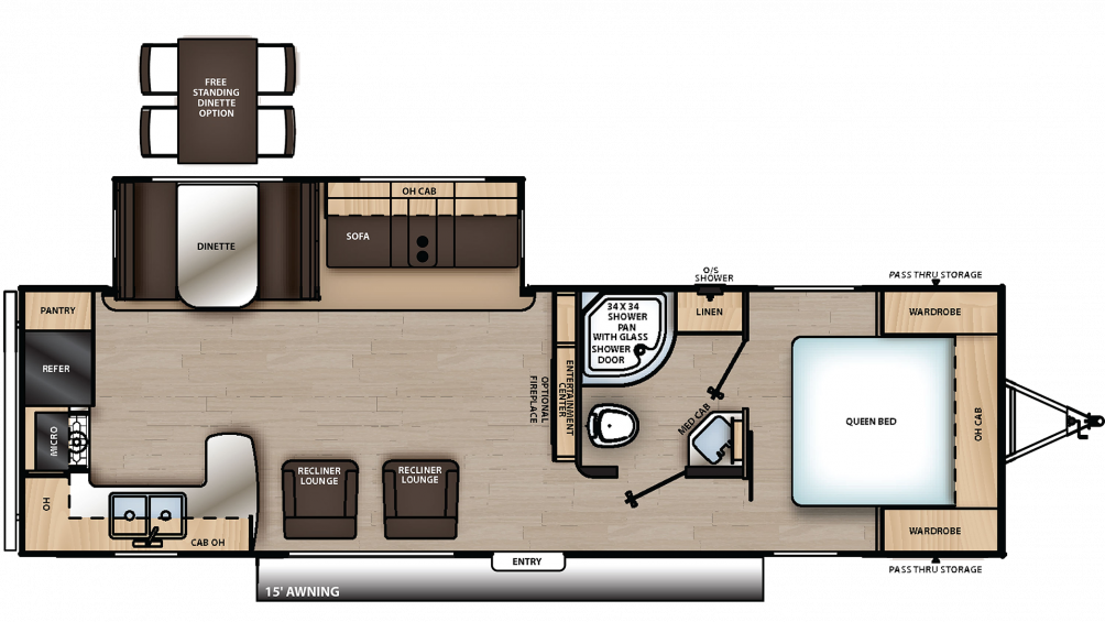 2020 Catalina Legacy Edition 283RKS Floor Plan Img