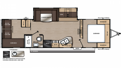 2020 Catalina Legacy Edition 293QBCK Floor Plan Img