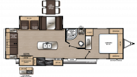 2020 Catalina Legacy Edition 293RLDS Floor Plan