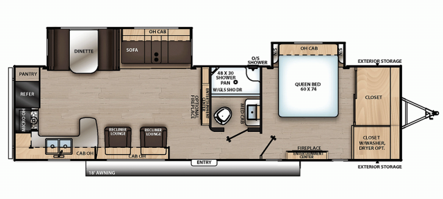 2020 Catalina Legacy Edition 303RKDS Floor Plan