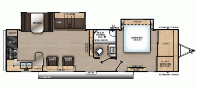 2020 Catalina Legacy Edition 303RKDS Floor Plan Img