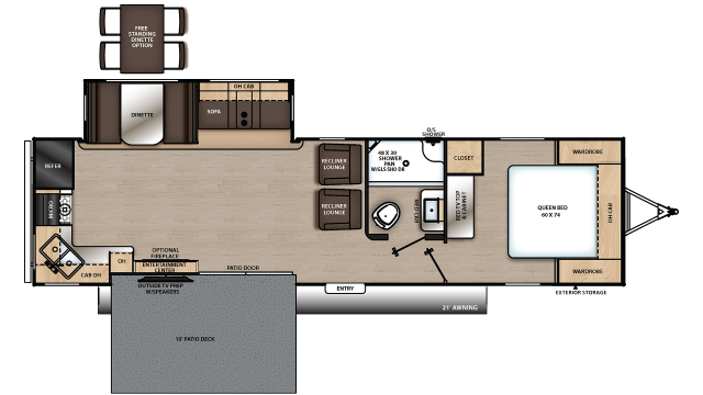 2020 Catalina Legacy Edition 303RKP Floor Plan