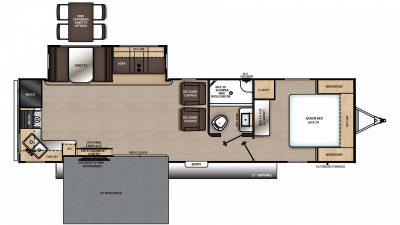 2020 Catalina Legacy Edition 303RKP Floor Plan Img