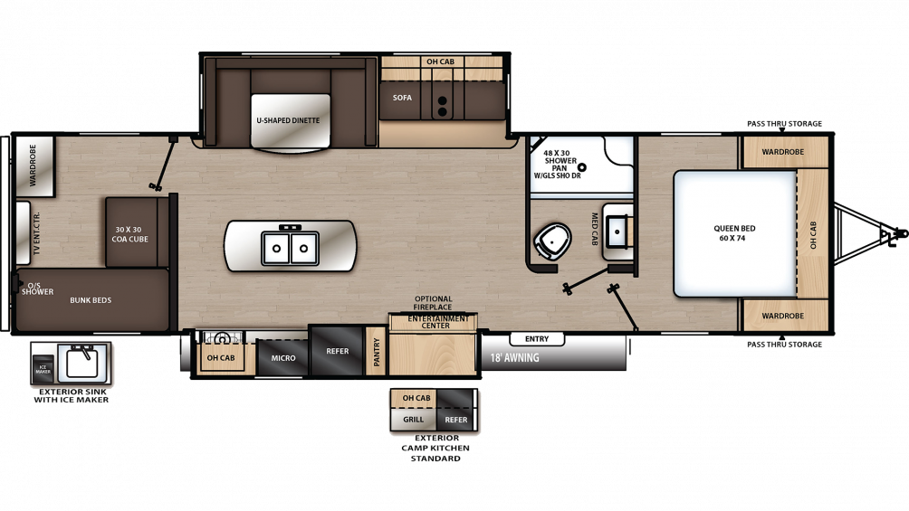 2020 Catalina Legacy Edition 313DSRBCK Floor Plan Img
