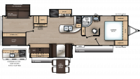 2020 Catalina Legacy Edition 333BHTSCK Floor Plan