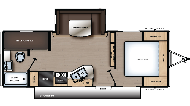 2020 Catalina SBX 221TBS Floor Plan