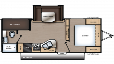 2020 Catalina SBX 221TBS Floor Plan Img