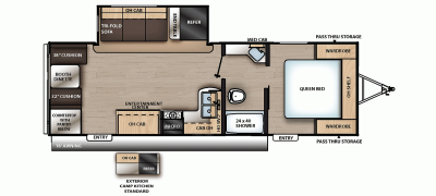2020 Catalina SBX 241RLS Floor Plan Img