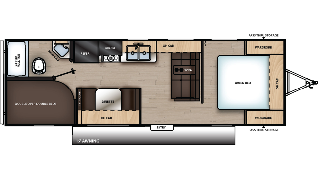 2020 Catalina SBX 261BH Floor Plan