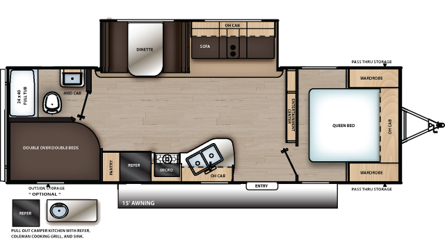 2020 Catalina SBX 261BHS Floor Plan